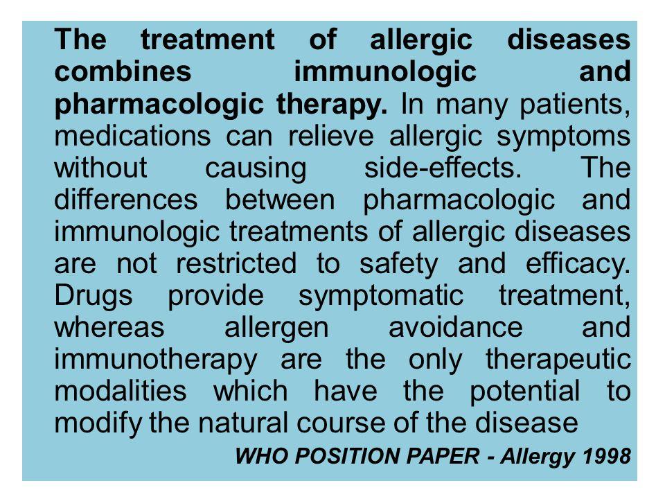 Prévention de nouvelles sensiblisations par dautres allergènes de lenvironnement: ITSL Marogna M et al.