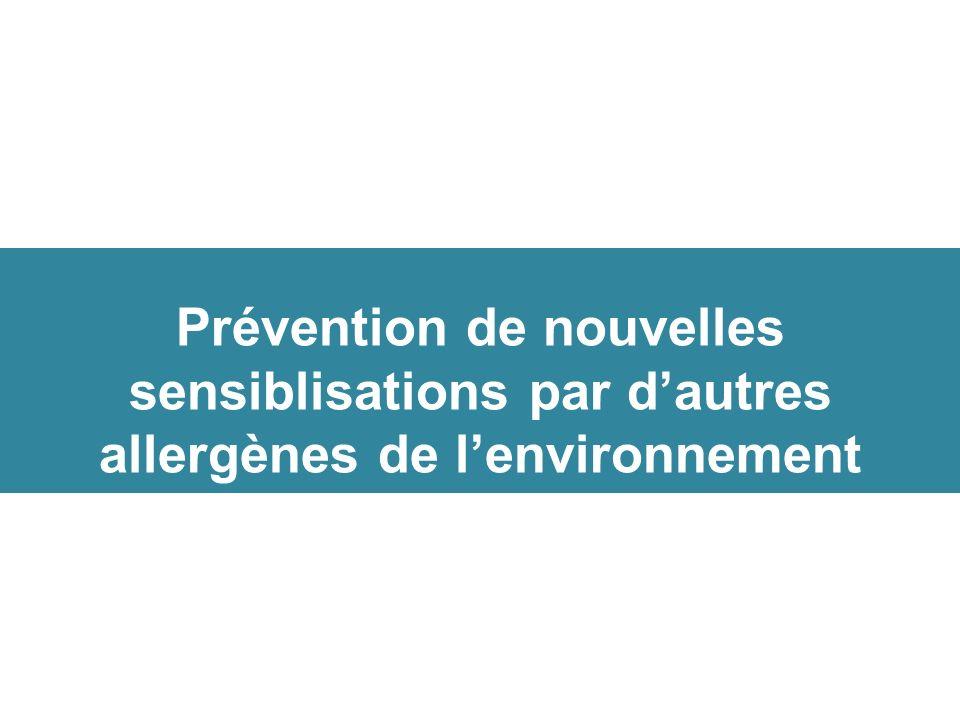 Prévention de nouvelles sensiblisations par dautres allergènes de lenvironnement