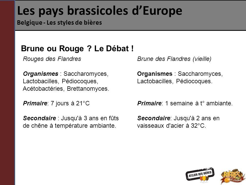 Les pays brassicoles dEurope Belgique - Les styles de bières Lambic / Gueuze Proche cousin de la Blanche puisquil utilise également de l orge et du blé, le Lambic se différencie par sa méthode de fermentation.