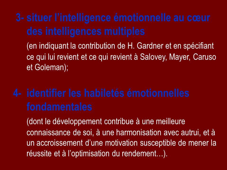 Gardner croit à une multiplicité de formes de lintelligence Des intelligences multiples : dont le nombre est indéterminé !