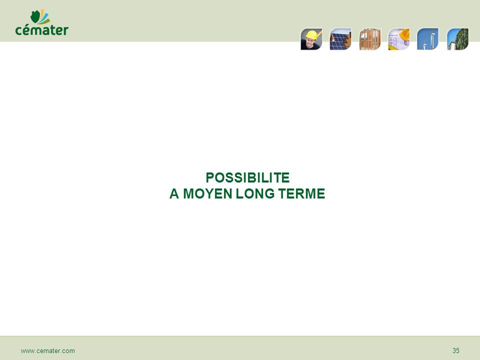 POSSIBILITE A MOYEN LONG TERME www.cemater.com35