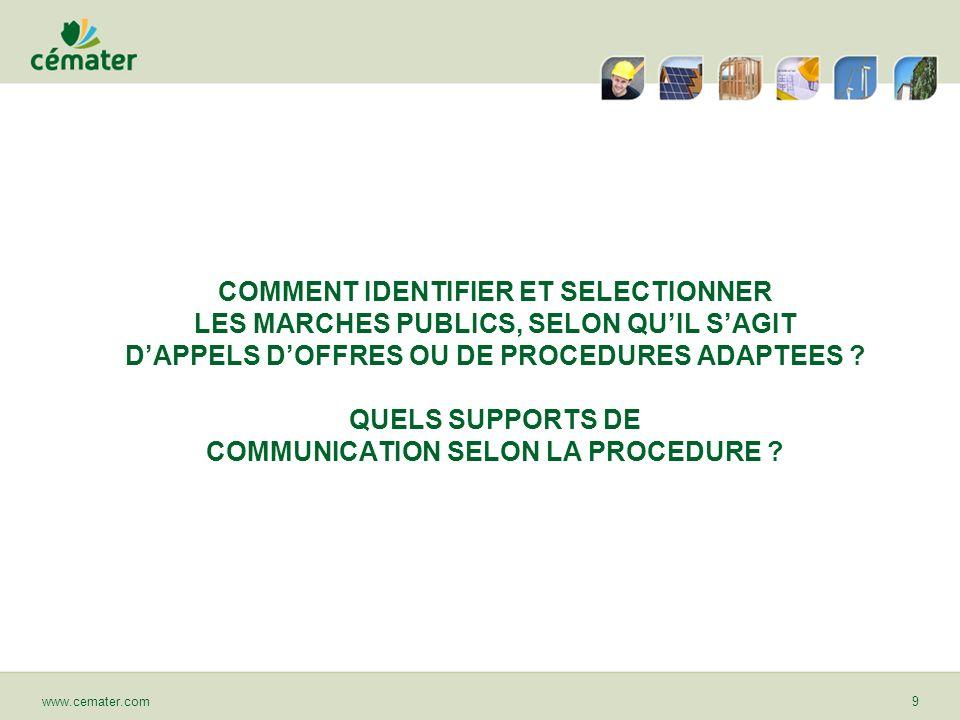 CONCLUSION : LES 20 POINTS CLEFS SIGNIFICATIFS www.cemater.com30