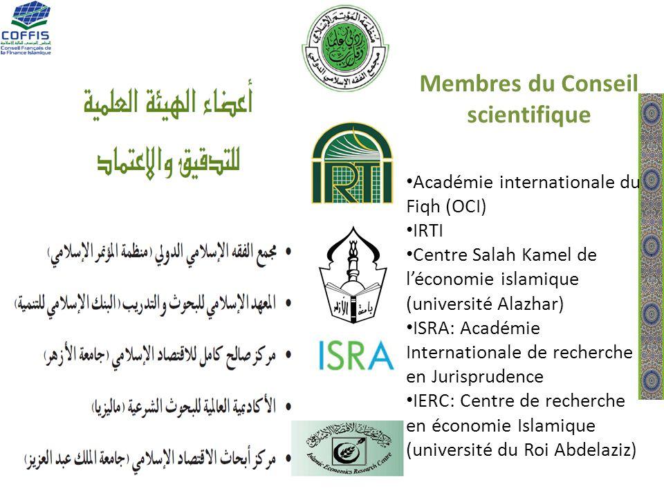 Membres du Conseil scientifique Académie internationale du Fiqh (OCI) IRTI Centre Salah Kamel de léconomie islamique (université Alazhar) ISRA: Académ