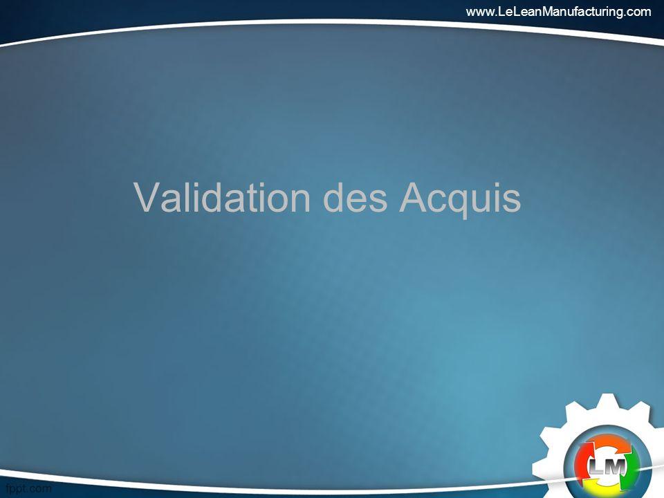 Validation des Acquis www.LeLeanManufacturing.com
