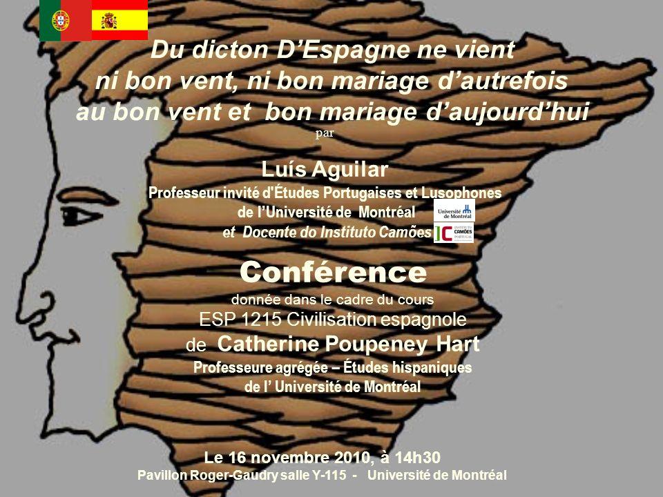 par Luís Aguilar Professeur invité d'Études Portugaises et Lusophones de lUniversité de Montréal et Docente do Instituto Camões Le 16 novembre 2010, à