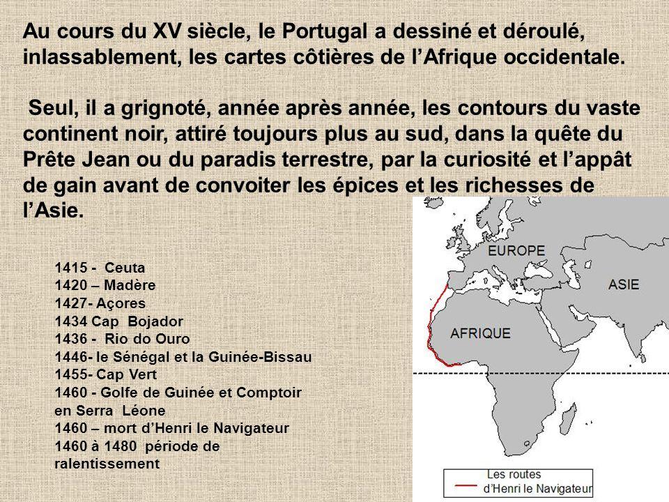 25 1415 - Ceuta 1420 – Madère 1427- Açores 1434 Cap Bojador 1436 - Rio do Ouro 1446- le Sénégal et la Guinée-Bissau 1455- Cap Vert 1460 - Golfe de Gui