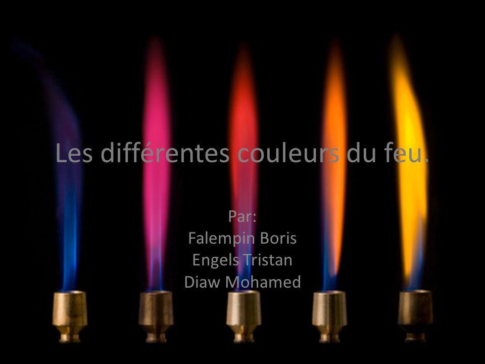 Les différentes couleurs du feu. Par: Falempin Boris Engels Tristan Diaw Mohamed