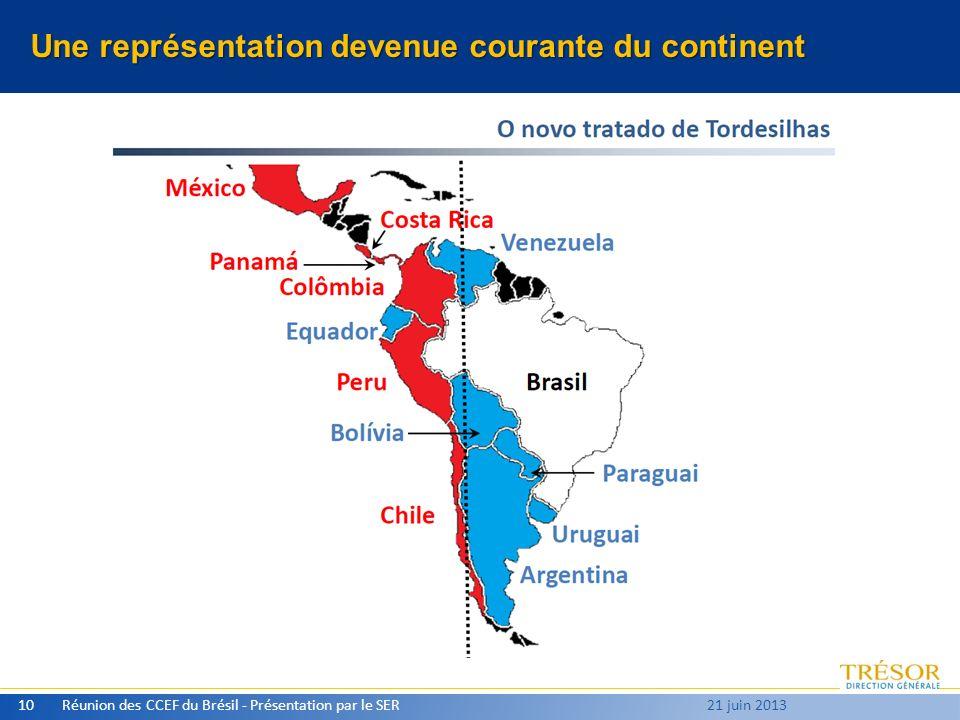 Une représentation devenue courante du continent Réunion des CCEF du Brésil - Présentation par le SER10 21 juin 2013