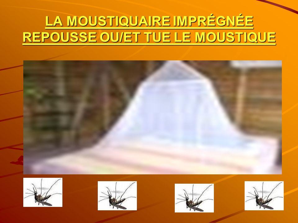 LA MOUSTIQUAIRE IMPRÉGNÉE REPOUSSE OU/ET TUE LE MOUSTIQUE