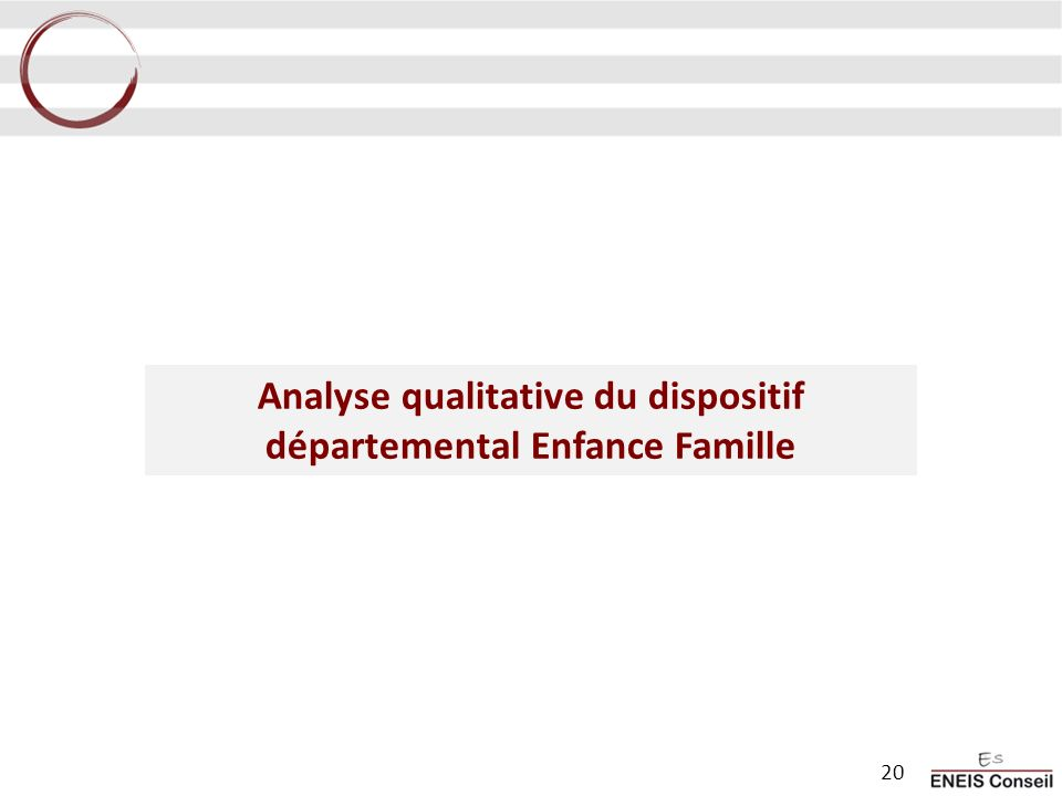 Analyse qualitative du dispositif départemental Enfance Famille 20