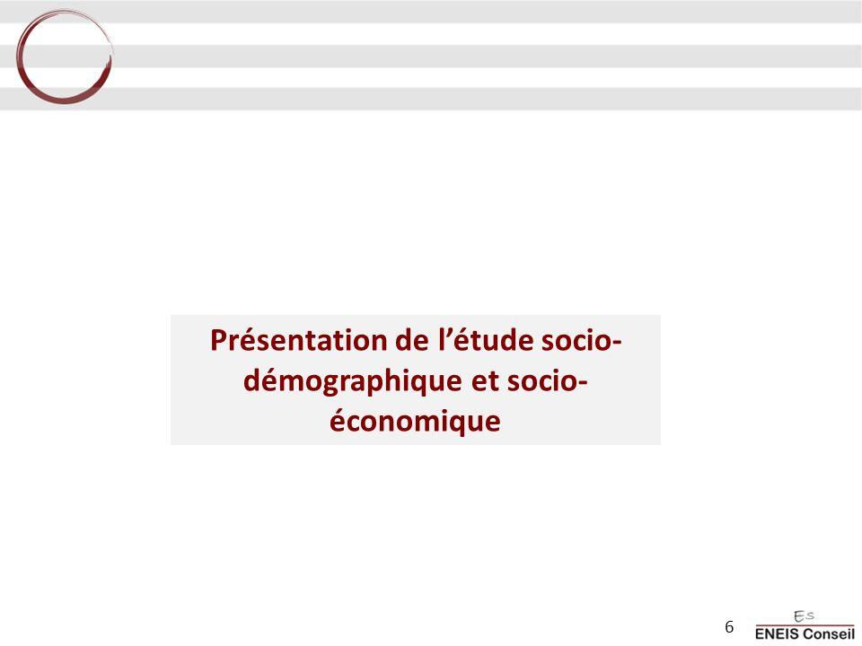 Présentation de létude socio- démographique et socio- économique 6