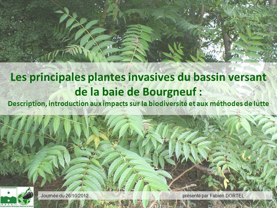 présenté par Fabien DORTEL Journée du 26/10/2012 Les principales plantes invasives du bassin versant de la baie de Bourgneuf : Description, introducti