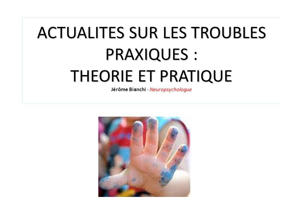 ACTUALITES SUR LES TROUBLES PRAXIQUES : THEORIE ET PRATIQUE Neuropsychologue ACTUALITES SUR LES TROUBLES PRAXIQUES : THEORIE ET PRATIQUE Jérôme Bianch