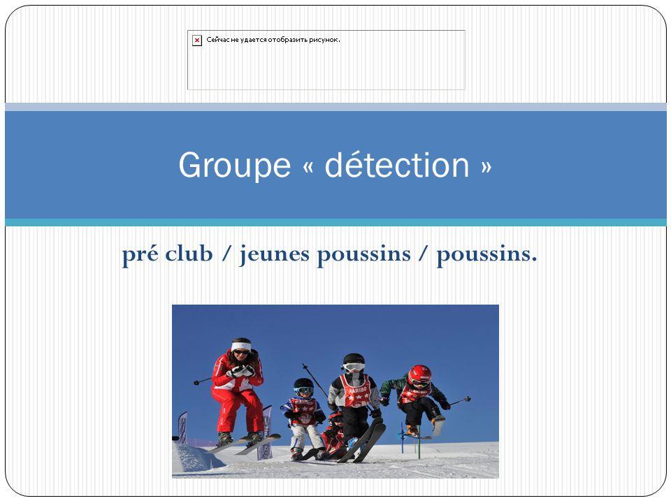 pré club / jeunes poussins / poussins. Groupe « détection »