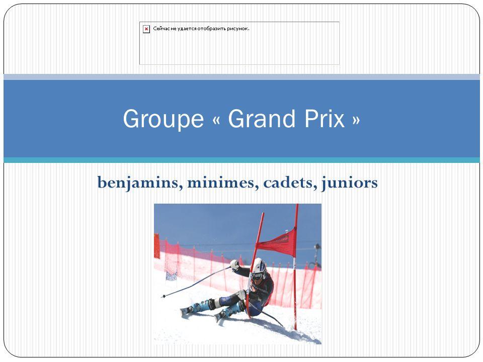 benjamins, minimes, cadets, juniors Groupe « Grand Prix »