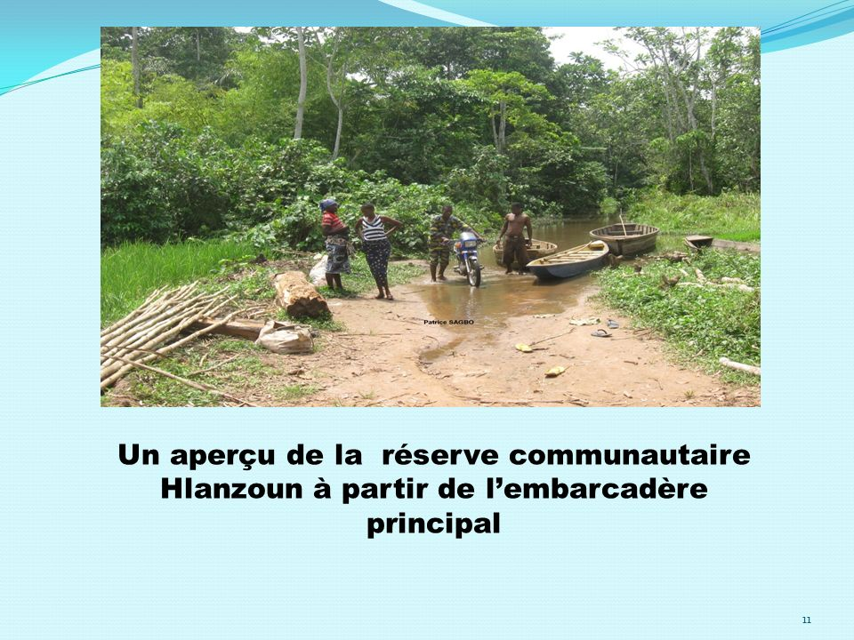 Un aperçu de la réserve communautaire Hlanzoun à partir de lembarcadère principal 11