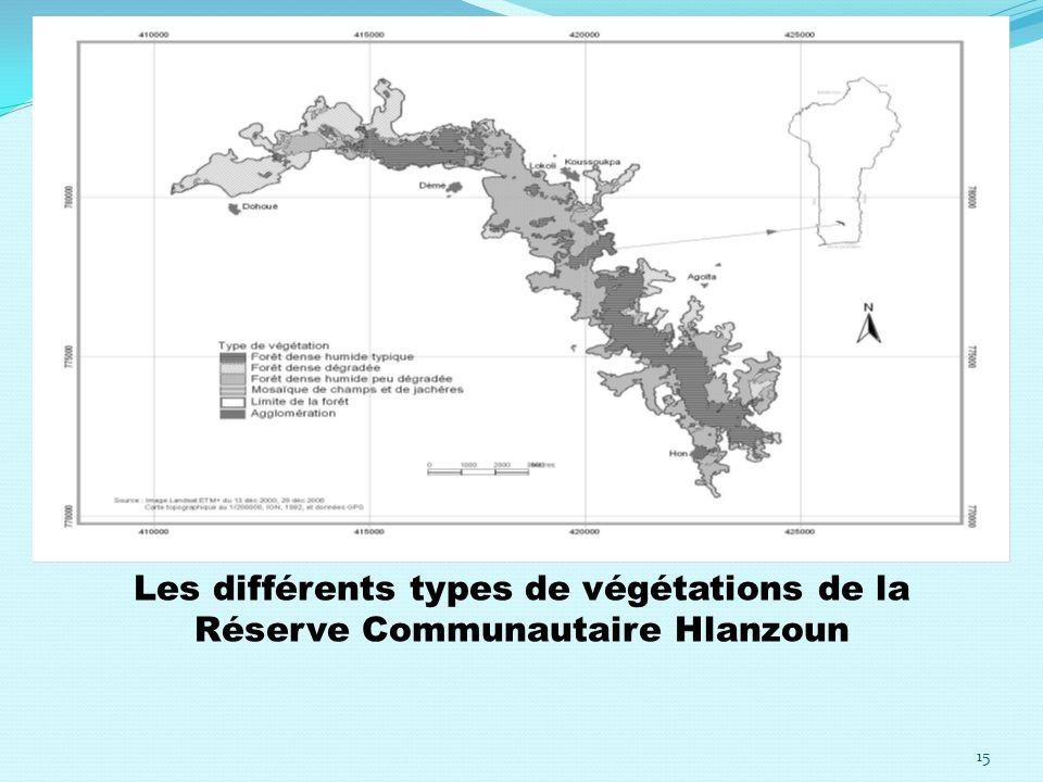 Les différents types de végétations de la Réserve Communautaire Hlanzoun 15