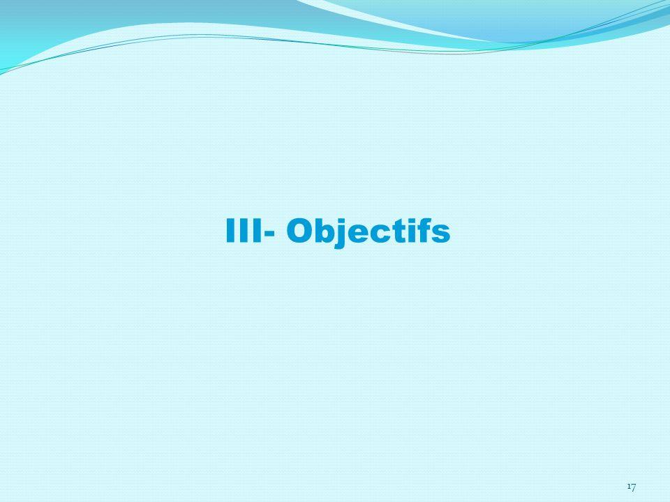 III- Objectifs 17