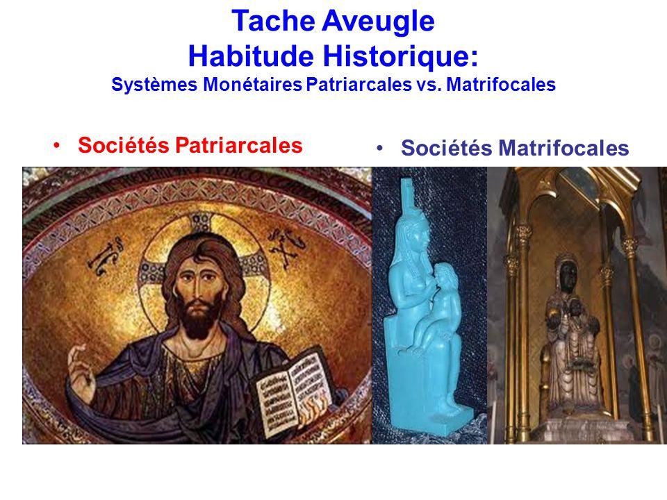 Tache Aveugle Habitude Historique: Systèmes Monétaires Patriarcales vs. Matrifocales Sociétés Patriarcales Tendance au Monopole de monnaie Yang Emises