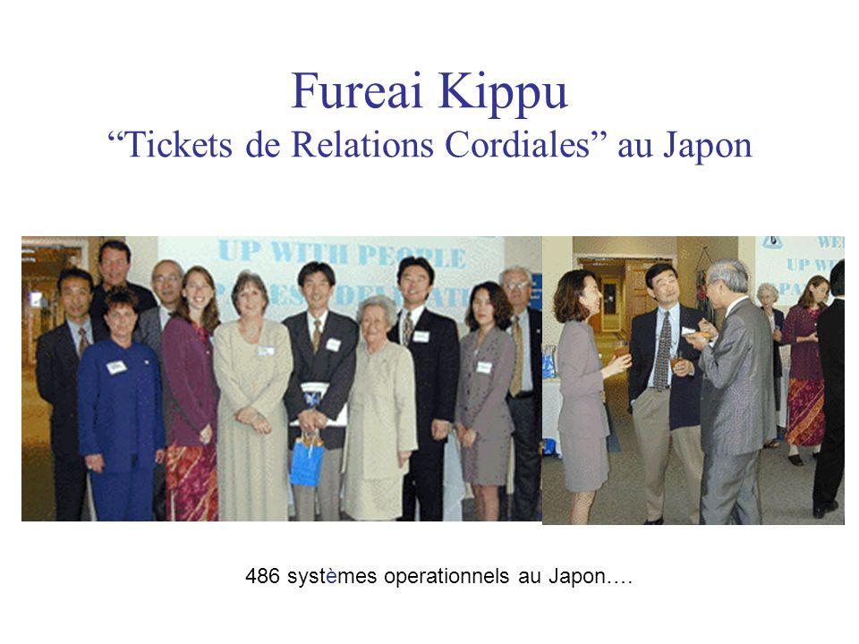Fureai Kippu Tickets de Relations Cordiales au Japon 486 systèmes operationnels au Japon….