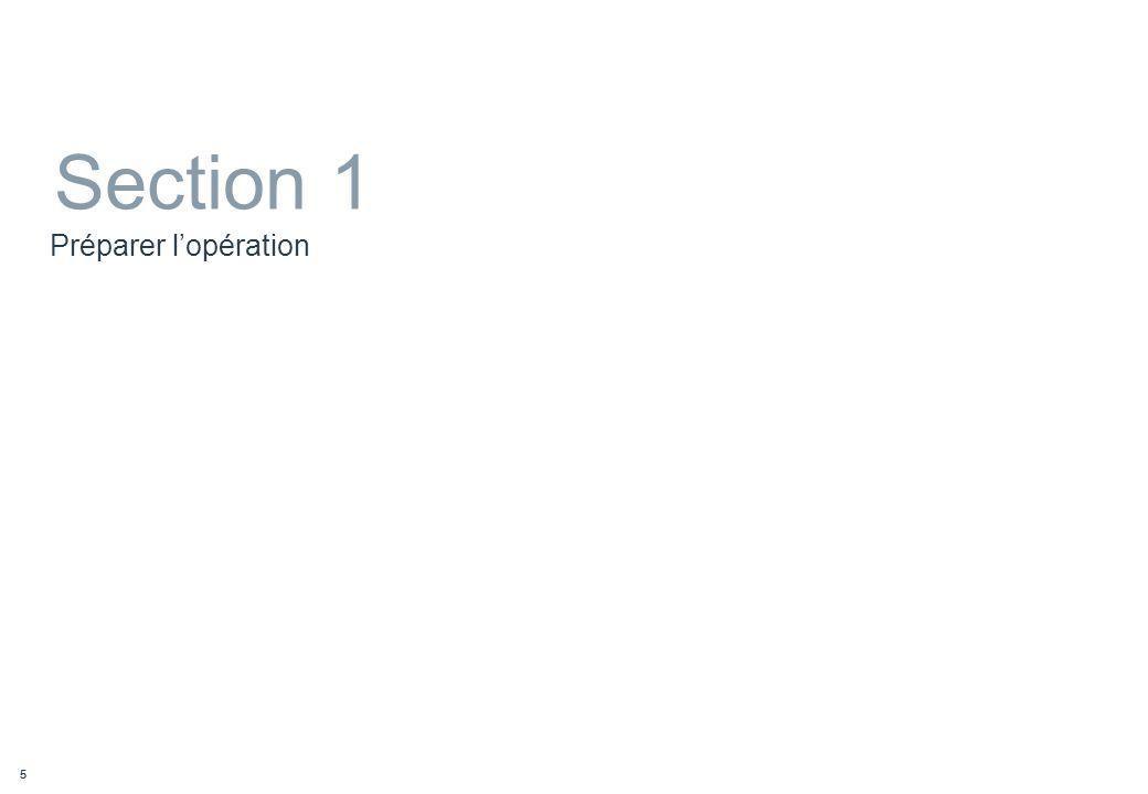 555 Préparer lopération Section 1