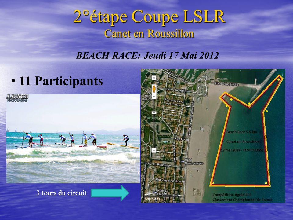 BEACH RACE: Jeudi 17 Mai 2012 11 Participants 3 tours du circuit 2°étape Coupe LSLR Canet en Roussillon