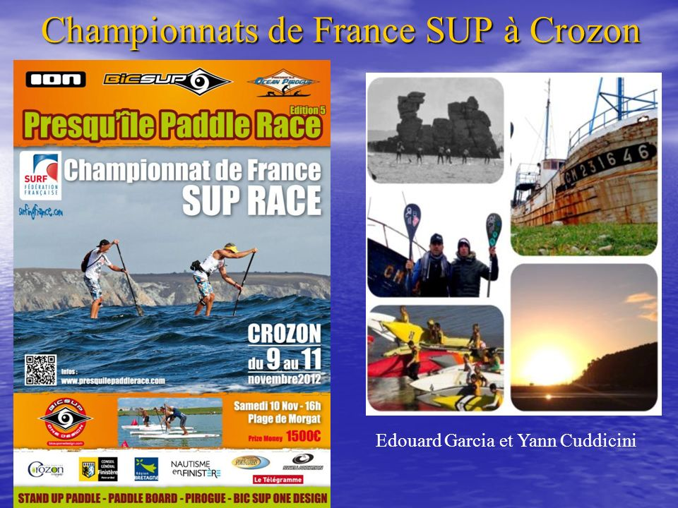 Championnats de France SUP à Crozon Edouard Garcia et Yann Cuddicini
