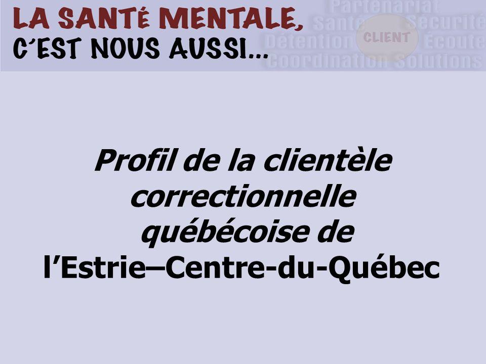 Profil de la clientèle correctionnelle québécoise de lEstrie–Centre-du-Québec