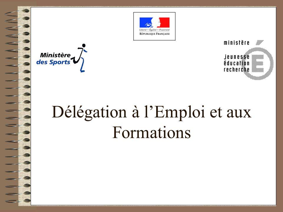 DEF 1 DEF 2 Délégation à lEmploi et aux Formations