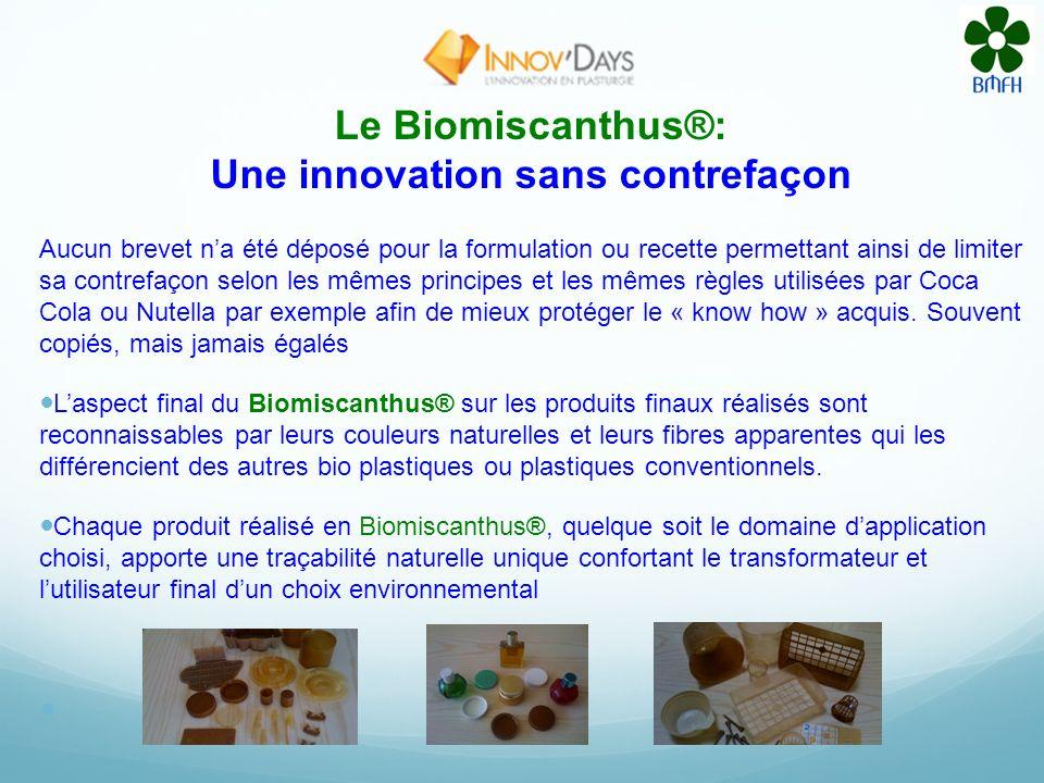 Biomiscanthus® Une fabrication respectueuse de lenvironnement. Un seul fabricant dextrudeuses à su répondre au cahier des charges permettant le « comp