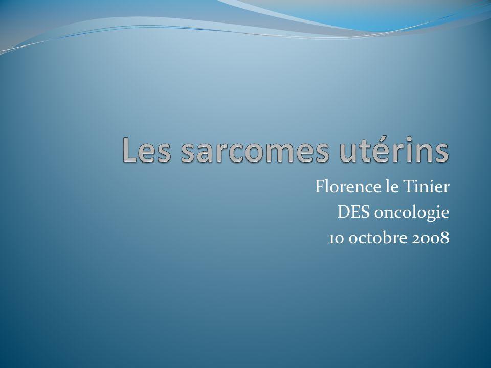 Florence le Tinier DES oncologie 10 octobre 2008
