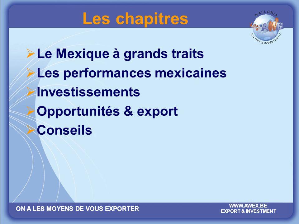 ON A LES MOYENS DE VOUS EXPORTER WWW.AWEX.BE EXPORT & INVESTMENT Le Mexique…de cocagne