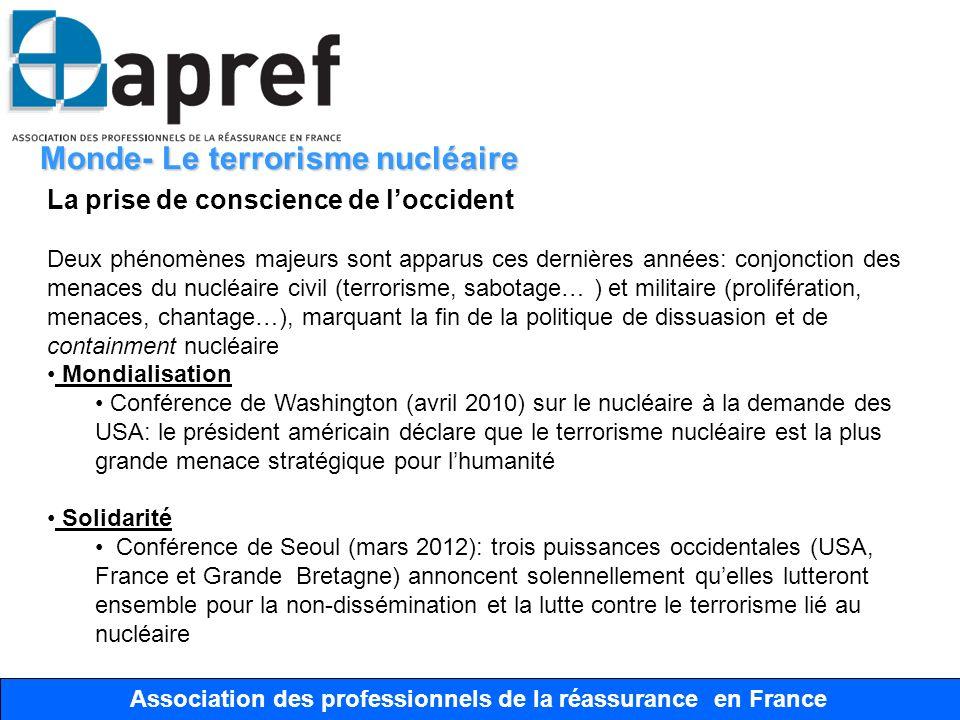 Association des Professionnels de la Réassurance en France Association des professionnels de la réassurance en France Monde- Le terrorisme nucléaire L
