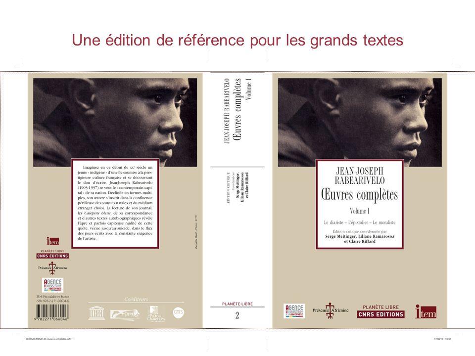 Une édition de référence pour les grands textes