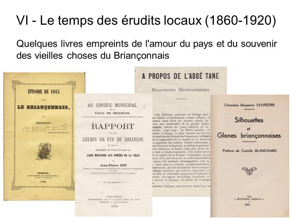Quelques livres empreints de l'amour du pays et du souvenir des vieilles choses du Briançonnais