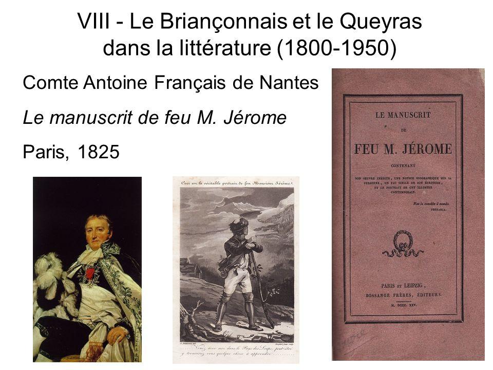 Comte Antoine Français de Nantes Le manuscrit de feu M. Jérome Paris, 1825