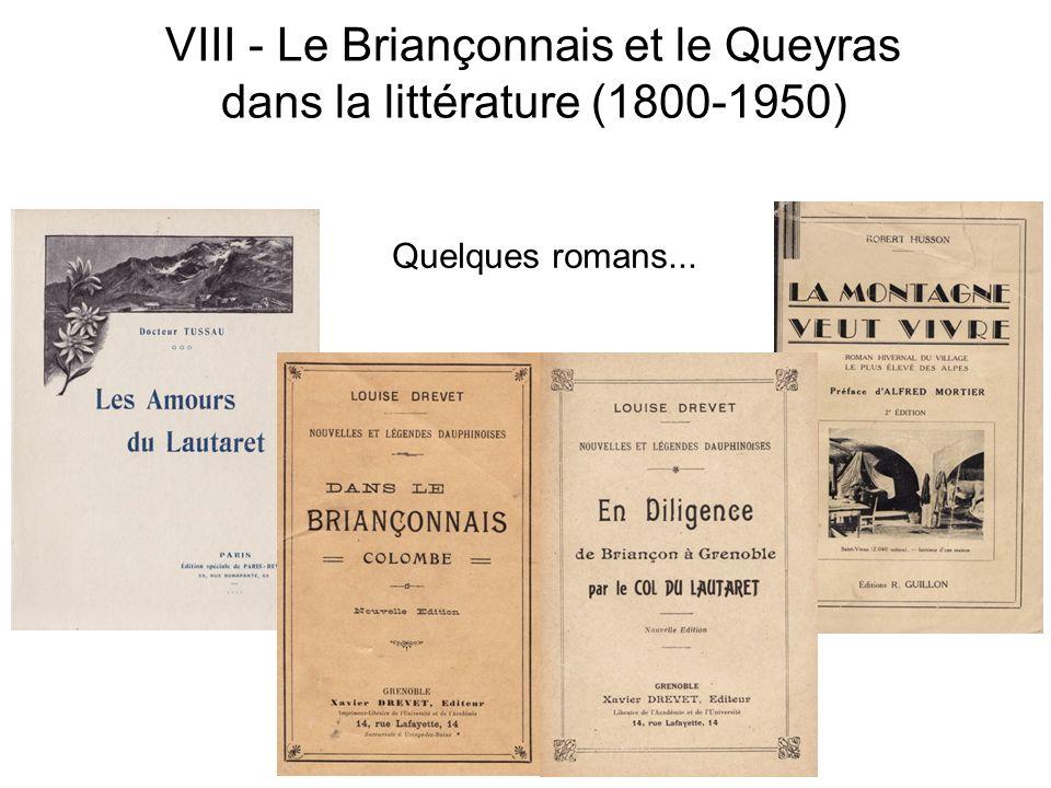 VIII - Le Briançonnais et le Queyras dans la littérature (1800-1950) Quelques romans...