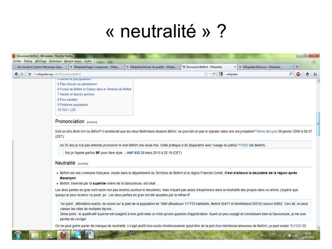 « neutralité » ?