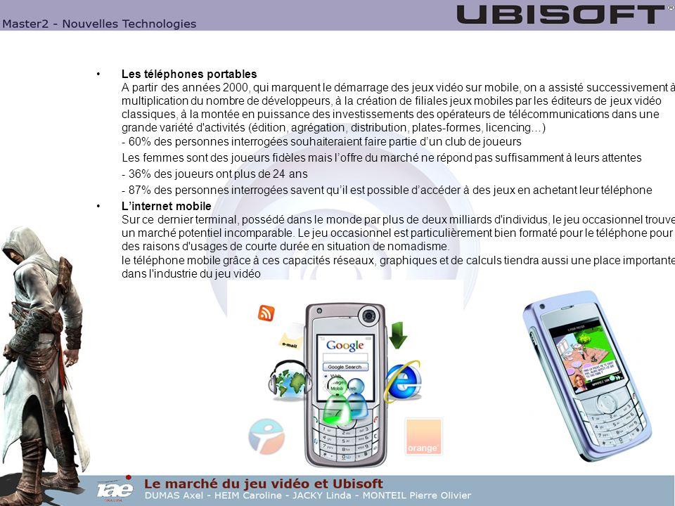 Les téléphones portables A partir des années 2000, qui marquent le démarrage des jeux vidéo sur mobile, on a assisté successivement à la multiplicatio