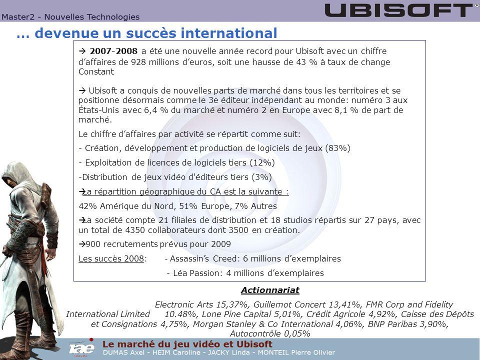 … devenue un succès international 2007-2008 a été une nouvelle année record pour Ubisoft avec un chiffre daffaires de 928 millions deuros, soit une ha