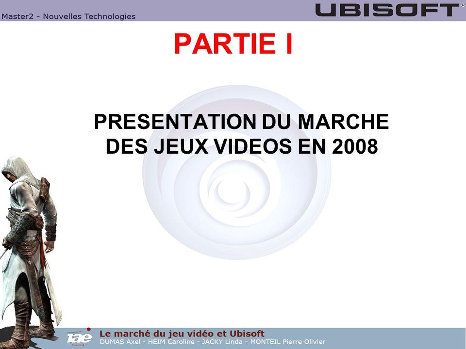 PARTIE I PRESENTATION DU MARCHE DES JEUX VIDEOS EN 2008
