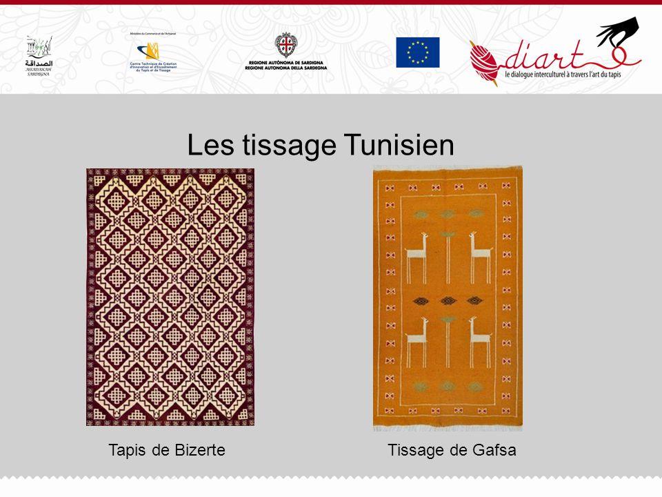 Les tissage Tunisien Tapis de BizerteTissage de Gafsa
