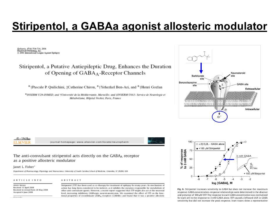 Stiripentol, a GABAa agonist allosteric modulator Bbb