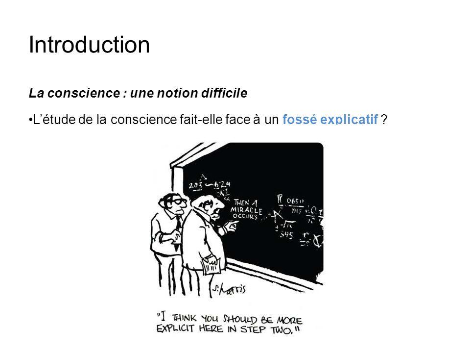 Introduction La conscience : une notion difficile Létude de la conscience fait-elle face à un fossé explicatif ?