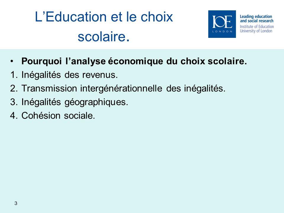 4 Statut Social et Economique Ecole Performances scolaires