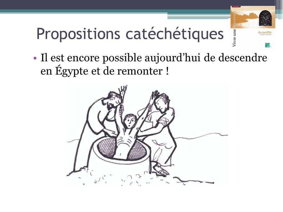 Propositions catéchétiques Il est encore possible aujourdhui de descendre en Égypte et de remonter !