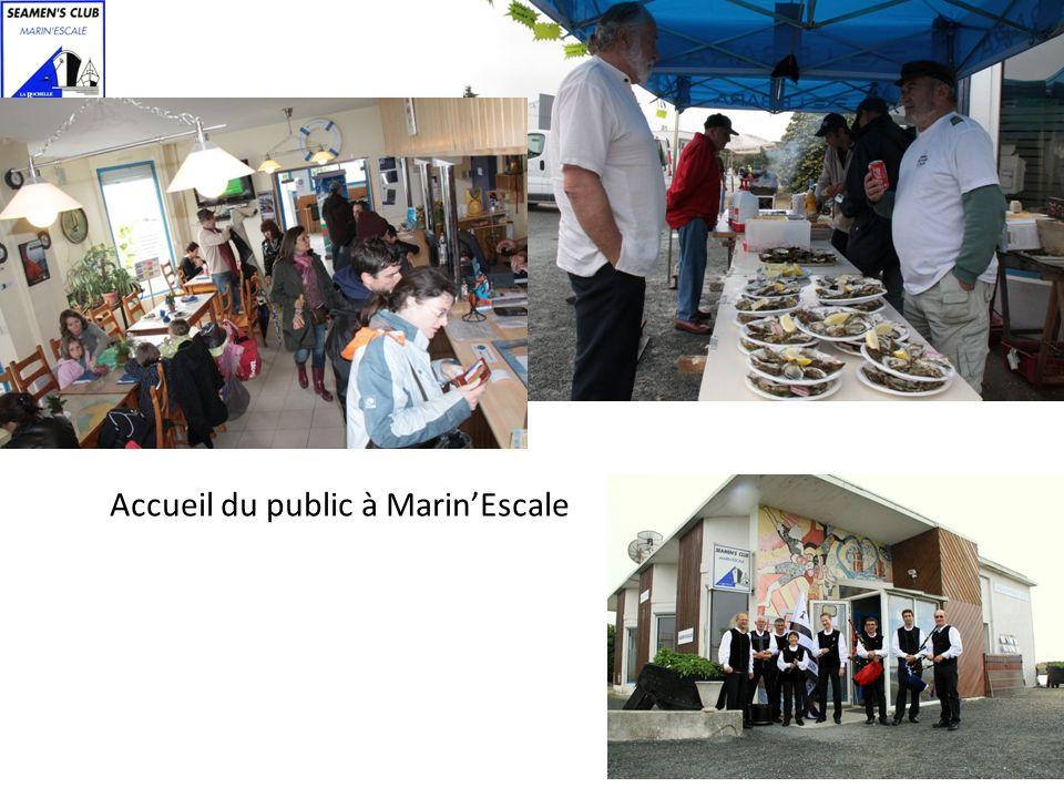 Accueil du public à MarinEscale