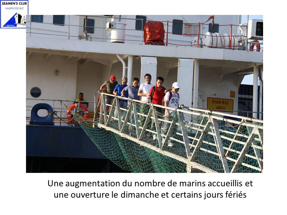 Une augmentation du nombre de marins accueillis et une ouverture le dimanche et certains jours fériés