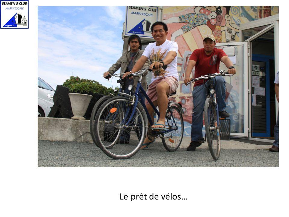 Le prêt de vélos…