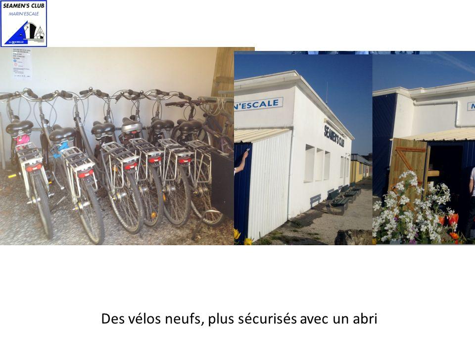 Des vélos neufs, plus sécurisés avec un abri